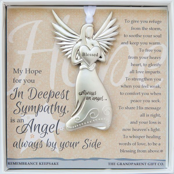 always by your side angel memorial ornament