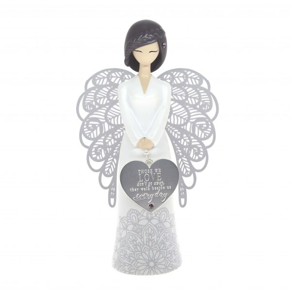 beside us everyday angel sympathy figurine