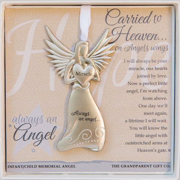 carried to heaven infant loss angel