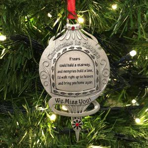 Christmas In Heaven Memorial Ornament Hanging In Tree