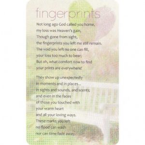 fingerprints pocket card