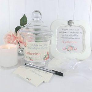 floral memories keepsake jar