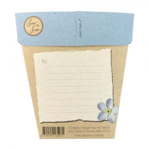 Forget Me Not Gift Of Seeds Packet Front Design