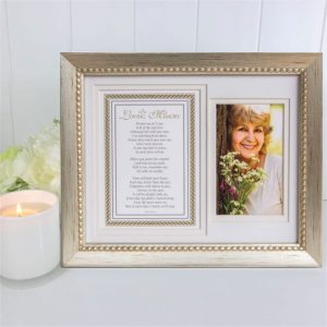in loving memory photo frame and verse