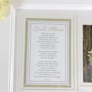 In Loving Memory Photo Frame & Verse