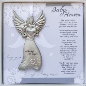 baby in heaven angel memorial ornament for infant loss