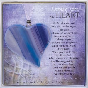 leaving you my heart blue memorial ornament