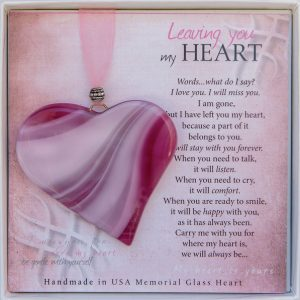 leaving you my heart pink memorial ornament