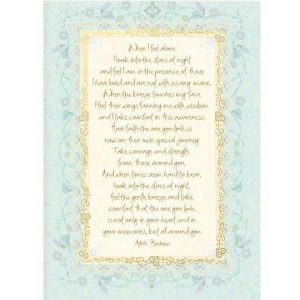 look into the stars sympathy card