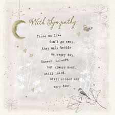 those we love sympathy card