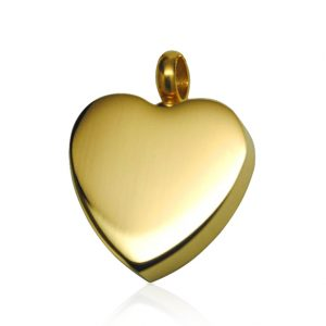 gold heart memorial jewellery