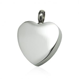 heart cremation keepsake pendant