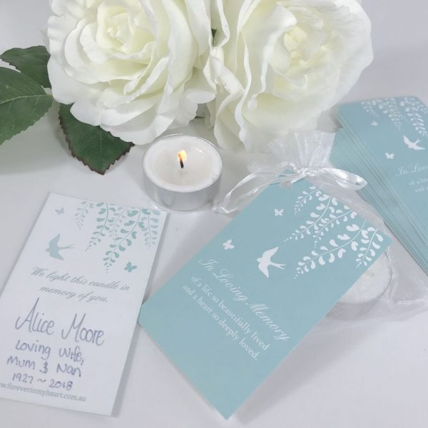 candle funeral favours