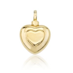 double heart cremation jewellery