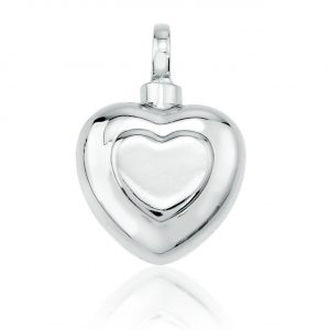 double heart memorial jewellery