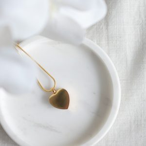 Gold Heart Cremation Memorial Jewellery