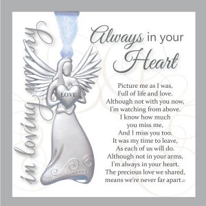 always in your heart angel memorial ornament