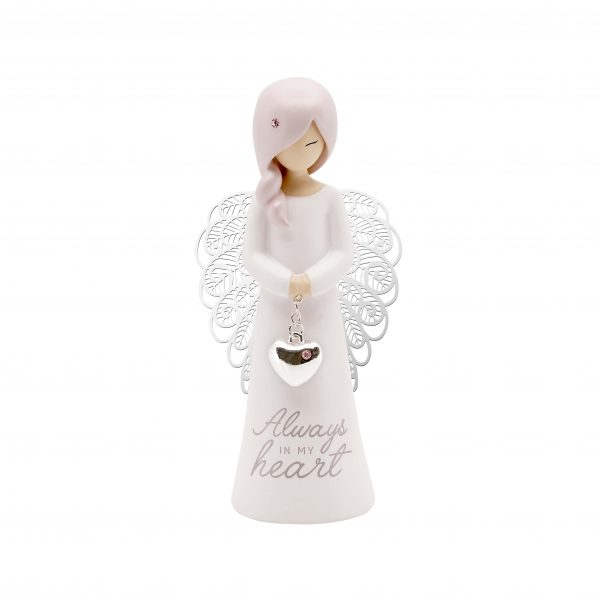 always in my heart angel sympathy figurine