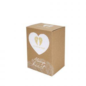 always in my heart angel sympathy figurine gift box