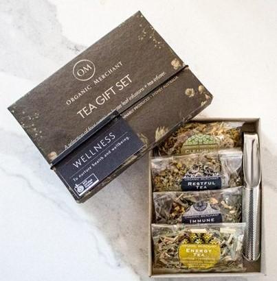 wellness tea gift set and tea infuser