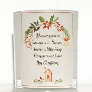 Someone We Love Christmas Candle White Background
