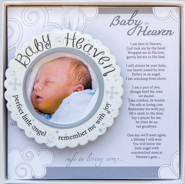 Baby In Heaven Baby Loss Memorial Photo Ornament