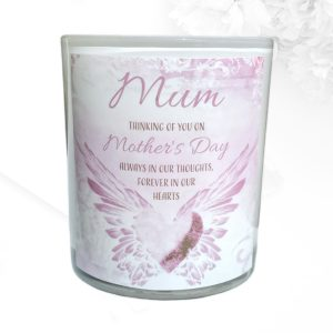 Angel Wing Heart Mothers Day Candle