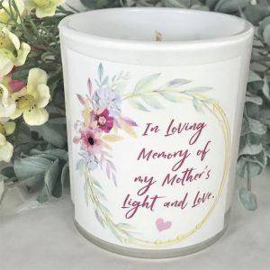 In loving memory floral mothers memorial candle