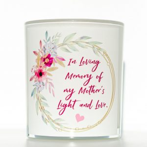 Floral Wreath Mothers Memorial Candle