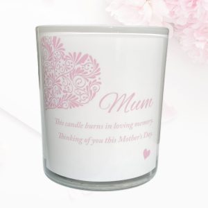 Heart Mothers Day Candle