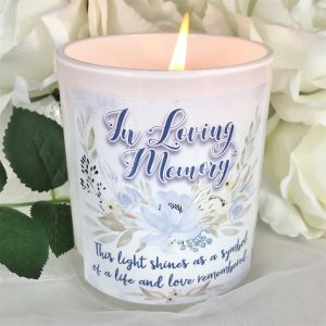 light shines memorial candle