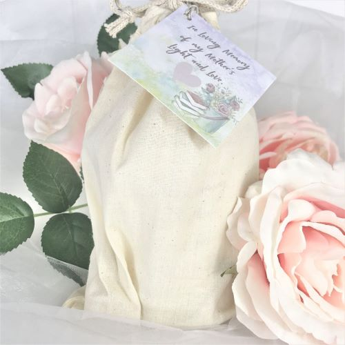light and love mothers memorial candle in gift bag
