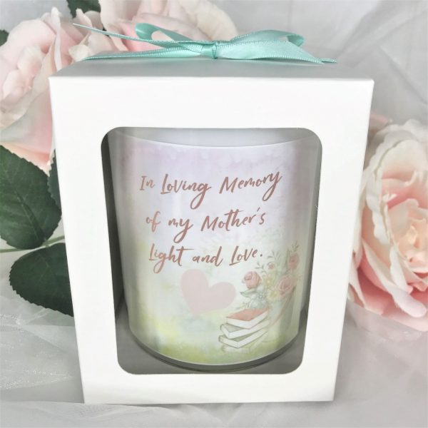Mothers light and love memorial candle gift boxed