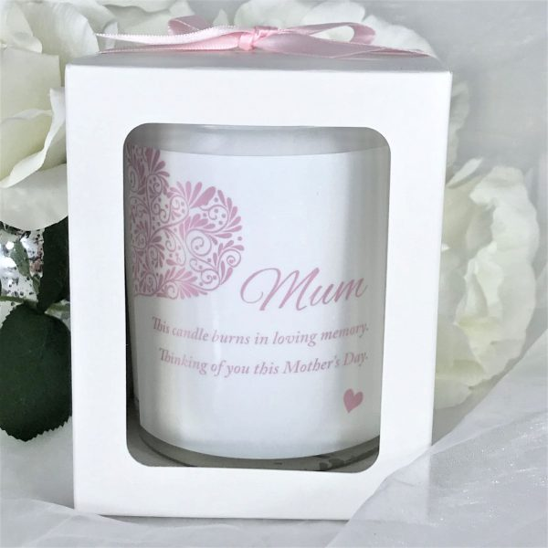 Mum mothers day memorial candle gift boxed