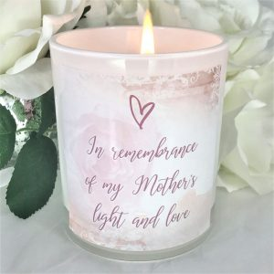 rose mothers memorial and remembrance candle