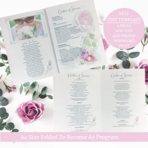 Rose Funeral Template Order Of Service