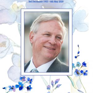 Funeral Program Template Forget Me Not Front Cover