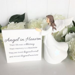 Angel In Heaven Light Up Ceramic Figurine Ornament