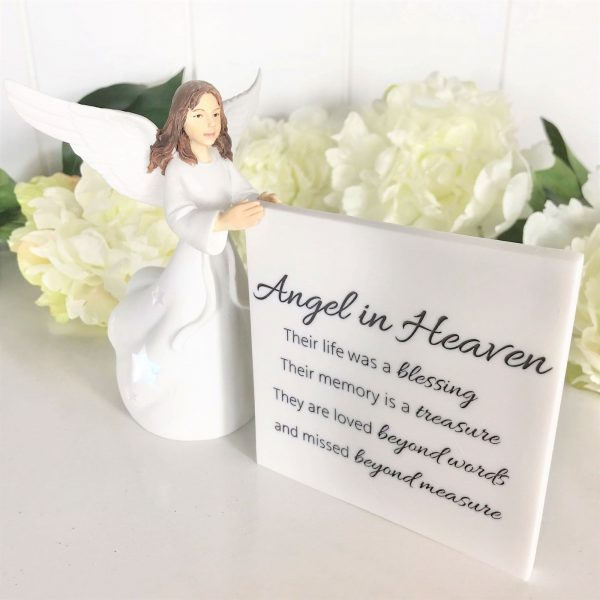 Angel In Heaven Light Me Up Ceramic Figurine Ornament Face View