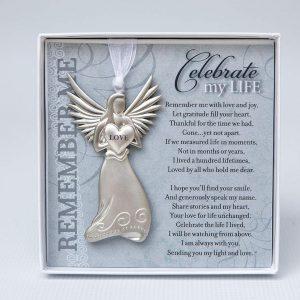 celebrate my life angel ornament