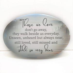 Those We Love Ceramic Plaque