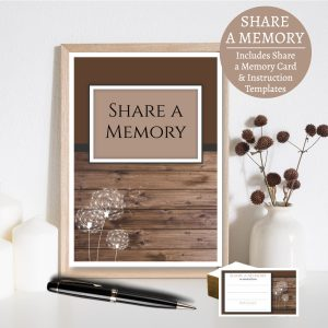 Dandelion Share A Memory Card and Instruction Templates
