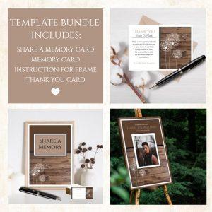 Dandelion Funeral Service Template Bundle
