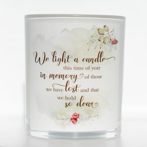 Hold So Dear Christmas Memorial Candle White Background