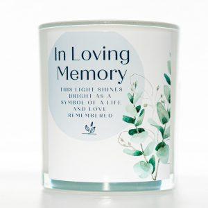 Life Remembered Memorial Candle