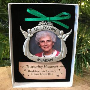 Treasuring Memories Photo Memorial Christmas Ornament Hanging