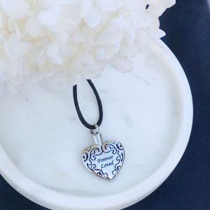 Forever Loved Heart Cremation Pendant Keepsake