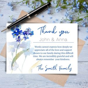 Forget Me Not Thank You Card With Names