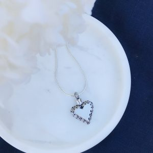 Heart With Filigree Border Cremation Pendant Keepsake