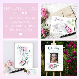 Rose Funeral Service Template Bundle